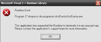 corel draw x5 runtime error resolvido microsof visual c runtime library runtime error