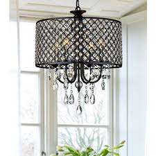 Crystal Drum Shade Chandelier Modern Crystal Chandelier U003e 206 58 Drum Shade Four Lights