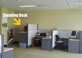 How To Build An Office Desk How To Build A Standing Desk At Work Creative Desk Decoration
