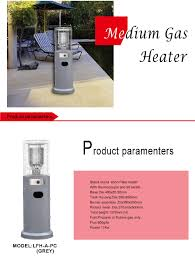 Short Patio Heater by Charmglow Propane Natural Gas Heater Stand Square Patio Heater