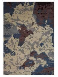 buy hand knotted woollen multicolored rug n00816 online