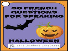 french halloween speaking activity 30 french speaking prompts by