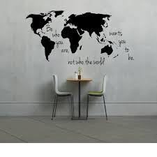 large world map decal be who you are not who world wants
