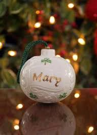 belleek traditional ornaments