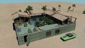 mini compound shipping container house pool youtube