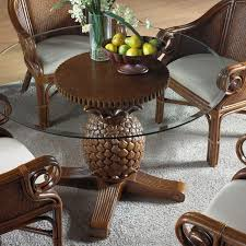 indoor wicker dining table havana palm indoor 5 pc rattan wicker dining set with cushions