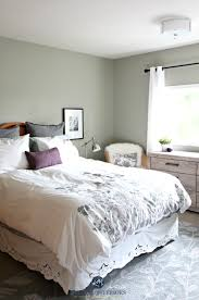 benjamin moore moutain air in a country style bedroom kylie m