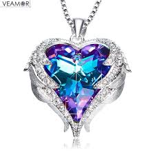wings necklace pendant images Veamor angel wings necklaces purple crystal heart pendant necklace jpg