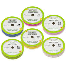 raffia ribbon bulk floral garden raffia ribbon 30 ft spools at dollartree