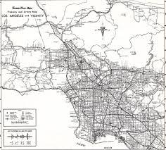 Metro La Map Thomas Bros Map Circa 1968 Los Angeles Metro Freeway Map Flickr