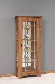 curio cabinet small white corner curio cabinet wash oak