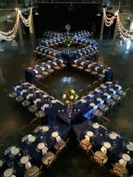 party rentals ta reception centerpieces made with navy ivory and gold blue