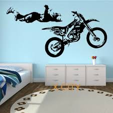 wall decals promotion shop for promotional wall decals on motocross stunt motorbike mx x games street cool creative wall sticker vinyl art decal window stencil room decor s l