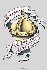 a styled t shirt illustration showing the holy grenade