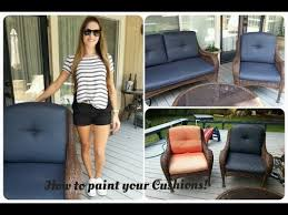 Where To Buy Upholstery Fabric Spray Paint How To Paint Outdoor Cushions Youtube