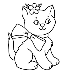 kitty cat coloring pages coloring