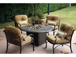 Patio Propane Fire Pit Darlee Outdoor Living Series 60 Cast Aluminum 60 Round Propane