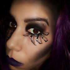 Purple Halloween Eye Makeup by 3d Spider Eye Makeup U2013 Halloween Look 3 U2013 Candeeglam