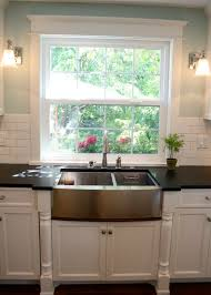 window ideas for kitchen kitchen farm sink kitchen window molding ideas treatments diy