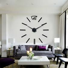 clocks interesting large silver wall clock oversized wall clock
