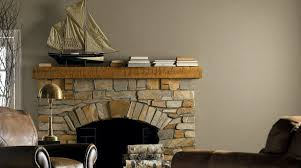 living room cool colors color ideas wood stained fireplace