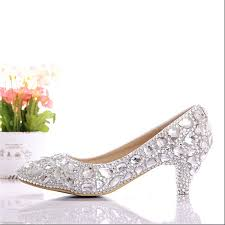wedding shoes low heel silver free shipping 2015 new silver low heel wedding shoes handmade
