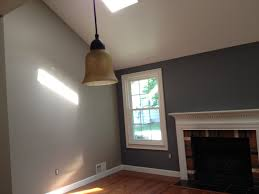 the wall color is benjamin moore plymouth rock 1543 home