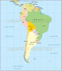 Map Of South Map Of South America With Capitals Throughout Map Of South America