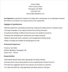 Hair Stylist Job Description Resume by Sample Hair Stylist Cv Template 6 Free Documents Download In