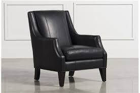 Black Leather Accent Chair Bryce Leather Accent Chair Living Spaces