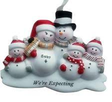 personalized snowman family of 3 w baby and