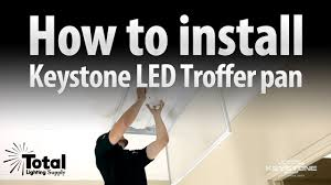 keystone led shop light how to install the keystone led retrofit troffer pan by keystone