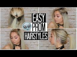 a quick and easy hairstyle i can fo myself easy prom hairstyles for short hair youtube
