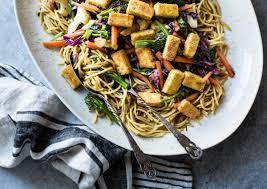 curried noodles with crispy tofu u0026 winter vegetables gluten free