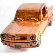 wooden pickup truck ford mustang 1964 mahogany wood model car
