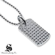 dog tag pendant necklace images Kay men 39 s dog tag necklace diamond accent stainless steel jpg