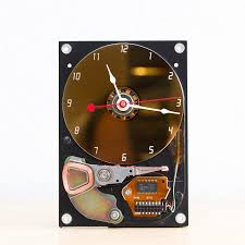 gift for dad desk clock recycled computer hard drive clock hdd clock gift