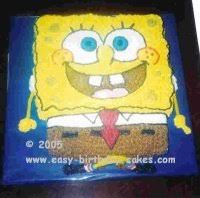 spongebob cake with pictures and instructions