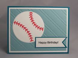 handmade greeting card baseball birthday card