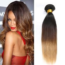sewed in hair extensions shine three tone ombre 1b 4 27 human hair weave sew