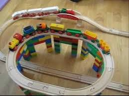 Make Wood Toy Train Track by Brio And Dublo Wooden Train Movie For Kids Youtube