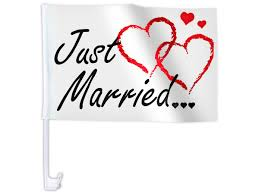 drapã e mariage lot de 10 drapeau de mariage just married décoration cortège