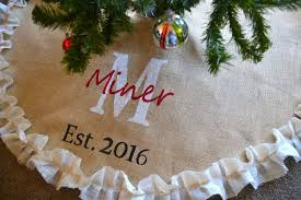 burlap tree skirt tree skirt burlap tree skirt christmas tree est date wedding gift
