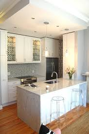 Wallpaper Lined Kitchen Cabinets Design Ideas - Kitchen cabinet wallpaper