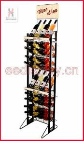 practical free flooring wine bottle display rack retailed standing