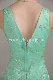 elegance deep v neckline a line full length mint green mother of