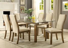 5 pc furniture of america onway dining room table set cm3461t