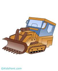 bulldozer coloring pages kids color print