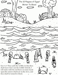 ten plagues coloring page coloring home