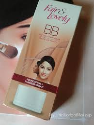 my little world of make up fair u0026 lovely bb cream review u0026 my